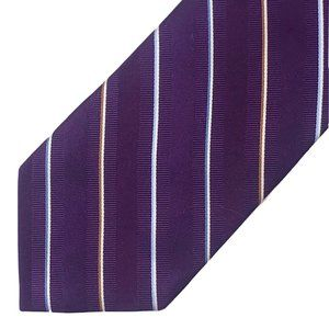 Jos. A. Bank Silk Tie Purple Diagonal Stripe